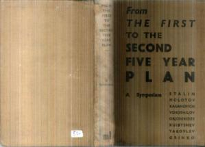 Book cover From the First to the Second Five-Year Plan: a Symposium