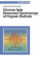 Book cover Electron spin resonance spectroscopy of organic radicals