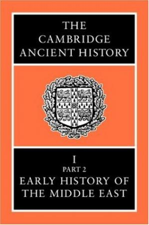 A capa do livro The Cambridge Ancient History Volume 1, Part 2: Early History of the Middle East