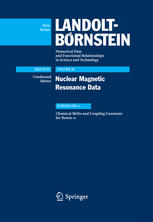 A capa do livro Nuclear Magnetic Resonance Data: Subvolume A Chemical Shifts and Coupling Constants for Boron-11