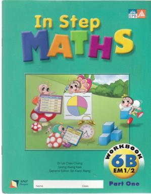 A capa do livro Singapore STEP Math 6B Workbook Part 1