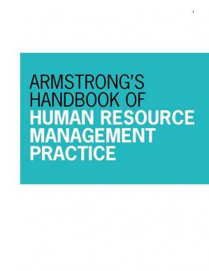 Okładka książki Armstrong's Handbook of Human Resource Management Practice, 13th Edition