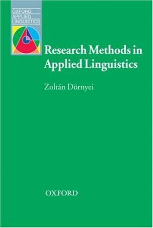Book cover Research Methods in Applied Linguistics (Oxford Applied Linguistics)
