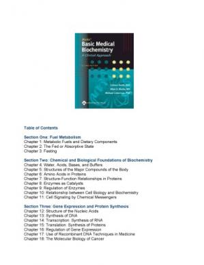 A capa do livro Marks' basic medical biochemistry