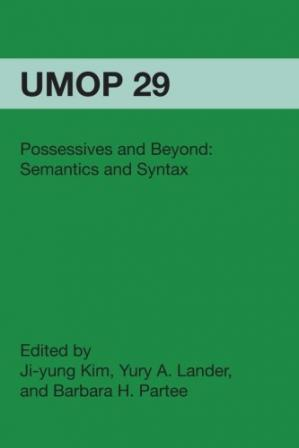 Book cover Possessives and Beyond: Semantics and Syntax