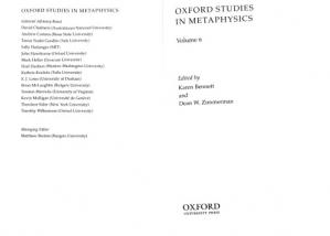 Book cover Oxford Studies in Metaphysics