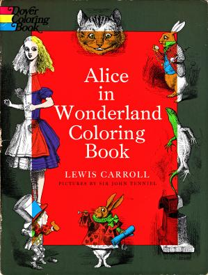 Book cover Alice in Wonderland Coloring Book
