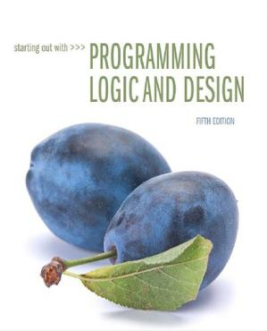 Book cover Starting Out with Programming Logic and Design