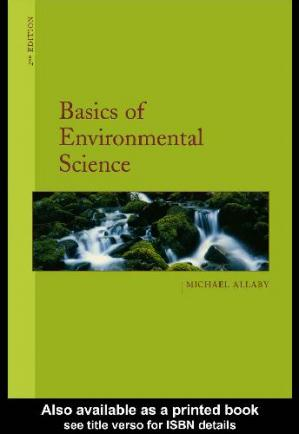 Book cover Basics of Environmental Science
