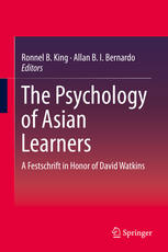 A capa do livro The Psychology of Asian Learners: A Festschrift in Honor of David Watkins