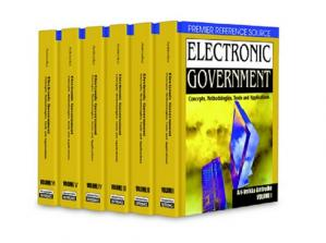 A capa do livro Electronic Government: Concepts, Methodologies, Tools and Applications