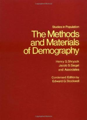 A capa do livro The Methods and Materials of Demography