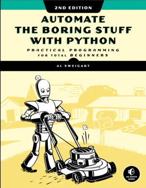 Book cover Automate the boring stuff with python 2nd edition