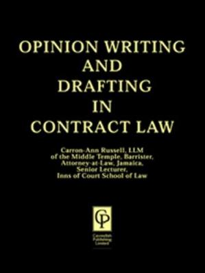 Copertina Opinion Writing & Drafting in Contract Law