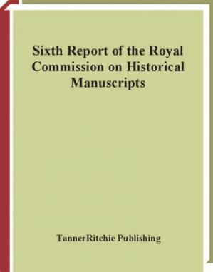 Korice knjige Sixth report of the Royal commission on historical manuscripts