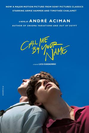 A capa do livro Call Me by Your Name