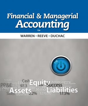 Book cover Financial and Managerial Accounting