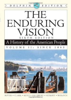 Обкладинка книги The Enduring Vision: A History of the American People, Dolphin Edition, Volume II: Since 1865