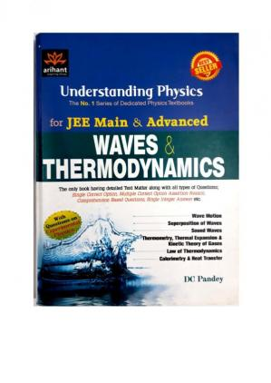 Book cover Understanding Physics for JEE Main & Advanced: Waves & Thermodynamics
