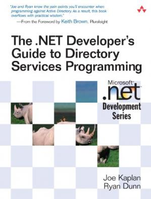 Book cover The .NET Developer's Guide to Directory Services Programming
