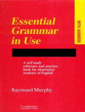 Book cover Essential Grammar In Use: A Self-Study Reference and Practice Book for elementary students of English
