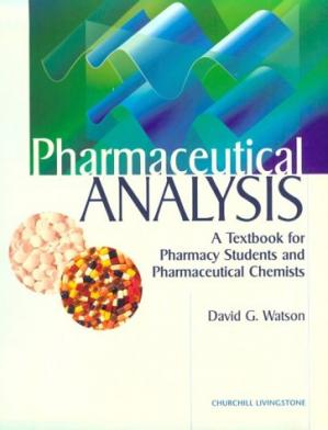 A capa do livro Pharmaceutical Analysis: A Textbook for Pharmacy Students and Pharmaceutical Chemists