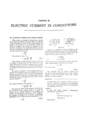 Book cover HCV Chapter 32 Electric Current in Conductors Concepts of Physics H C Verma IIT JEE Part 2 various Engineering Entrance Exams