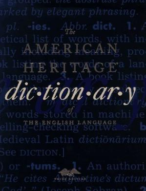 Book cover The American Heritage Dictionary of the English Language