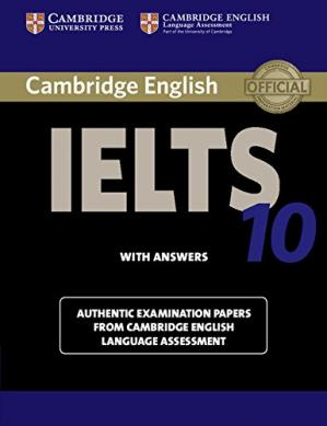 Book cover Cambridge IELTS 10 Student's Book with Answers: Authentic Examination Papers from Cambridge English Language Assessment