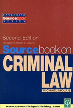 Book cover Sourcebook on Criminal Law