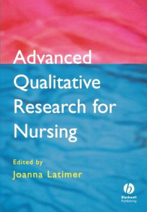 A capa do livro Advanced Qualitative Research for Nursing