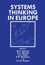 Couverture du livre Systems Thinking in Europe