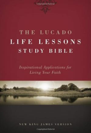 ปกหนังสือ The Lucado Life Lessons Study Bible, NKJV: Inspirational Applications for Living Your Faith