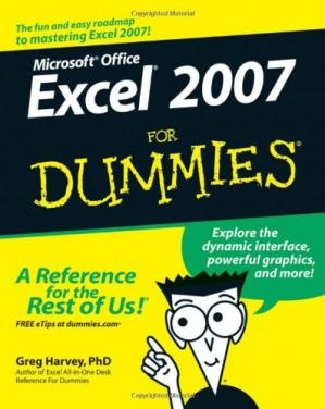 Book cover Microsoft Office Excel 2007 for dummies