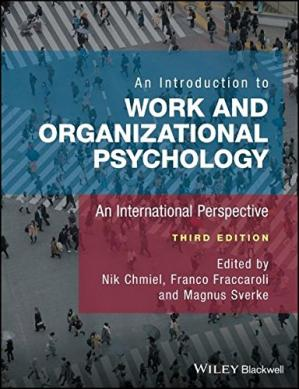 Copertina An Introduction to Work and Organizational Psychology: An International Perspective