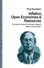 Portada del libro Inflation, Open Economies and Resources: The Collected Writings of Paul Davidson, Volume 2