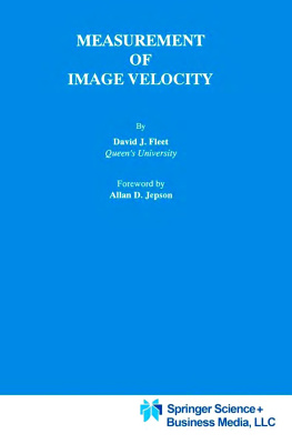 Book cover Measurement of Image Velocity