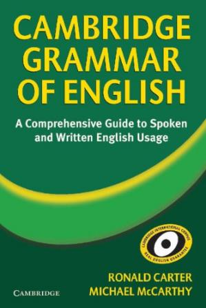 Portada del libro Cambridge Grammar of English: A Comprehensive Guide