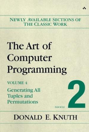 Book cover The Art of Computer Programming, Volume 4, Fascicle 2: Generating All Tuples and Permutations