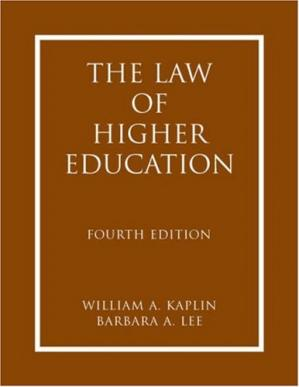 Copertina The Law of Higher Education