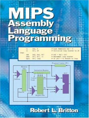Book cover MIPS assembly language programming