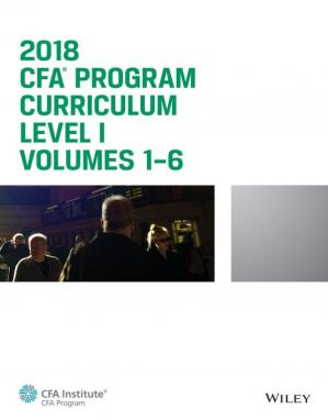 Buchdeckel CFA Program Curriculum 2018 Level I Volumes 1-6 Box Set
