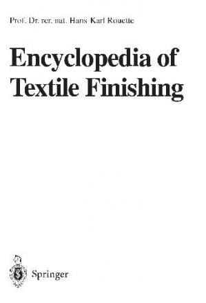 Book cover Encyclopedia of Textile Finishing