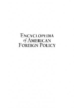 Book cover Encyclopedia of American Foreign Policy - A-D (Chronology)