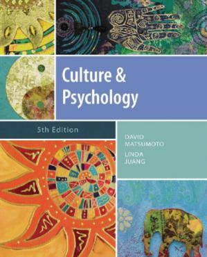 Book cover Culture and Psychology
