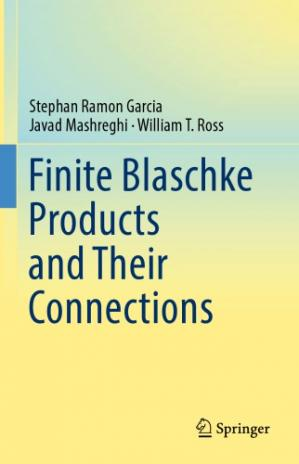 Book cover Finite Blaschke products and their connections