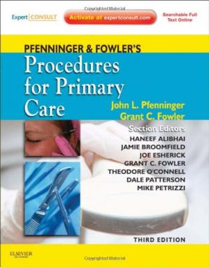Portada del libro Pfenninger and Fowler's Procedures for Primary Care, Third Edition