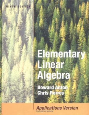 Book cover Elementary linear algebra with applications