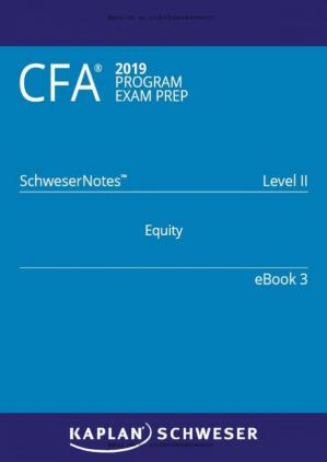 Εξώφυλλο βιβλίου CFA 2019 Schweser - Level 2 SchweserNotes Book 3: EQUITY