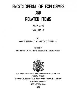 Book cover Encyclopedia of Explosives and Related Items